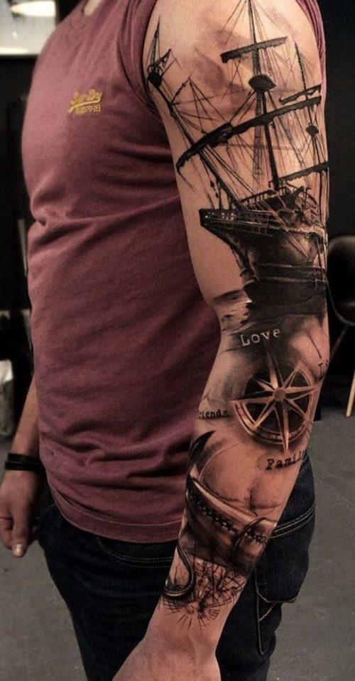 Puntos Cardinales Tatuaje 95 tatuajes para hombres en el brazo ideas excelentes