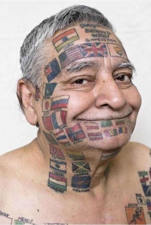232 Tatuajes En La Cara Y La Cabeza