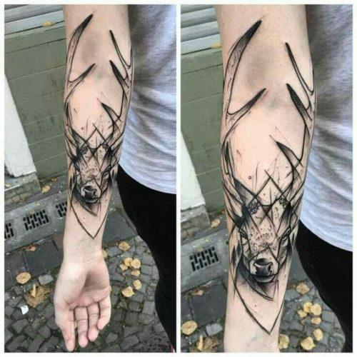 Tatuaje De Bosque En El Brazo Sfb