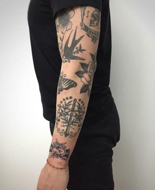 Bocetos Tatuajes Brazo tatuajes en todo el brazo con diseños exclusivos