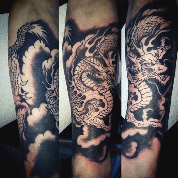 fantasticos tatuajes de dragones y significados. Black Bedroom Furniture Sets. Home Design Ideas