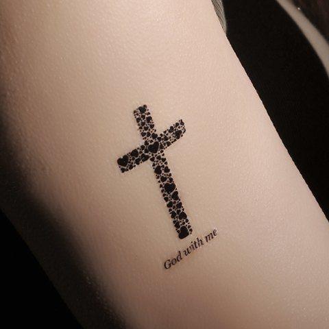 Tatuaje De Cruz Con Flores Sfb
