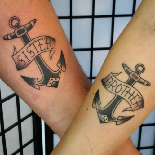 sister brother tattoos