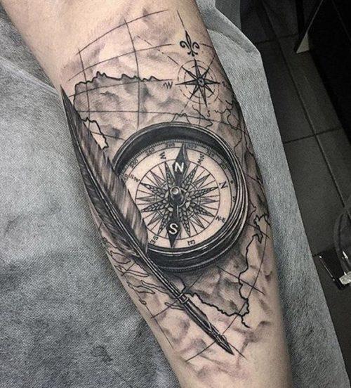 Tatuajes De Brújulas Y Su Significado Fotos Con Los Mejores Diseños