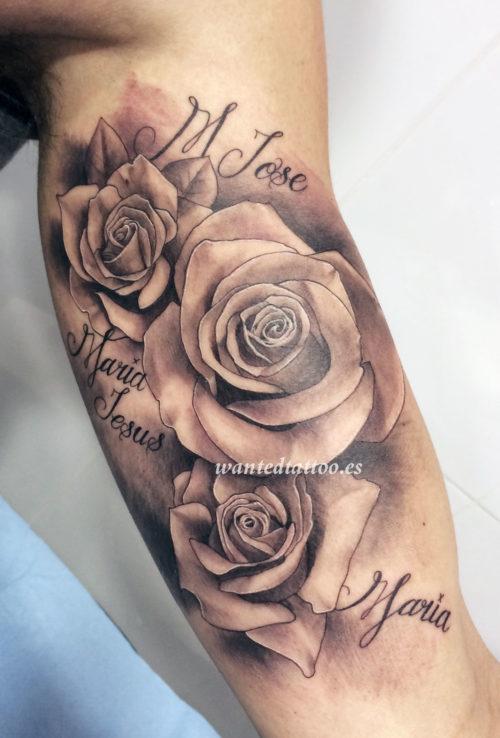 De 100 Tatuajes De Rosas Con Imagenes Y Significados - Diseos-de-rosas