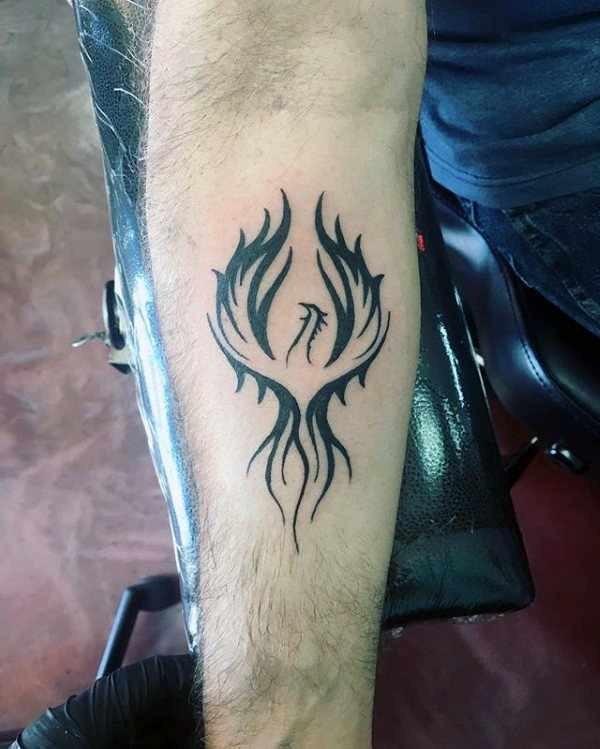 Tatuajes De Ave Fenix Para Hombres En La Pierna Tatuajes