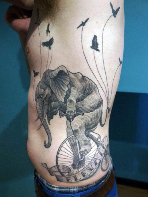 TatuajeElefante14 500x665 Tatuajes de elefantes y su significado