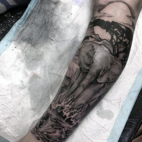 TatuajeElefante16 500x500 Tatuajes de elefantes y su significado