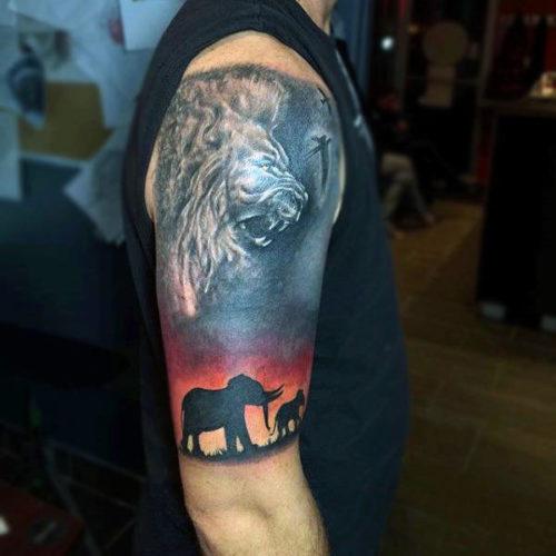 TatuajeElefante17 500x500 Tatuajes de elefantes y su significado