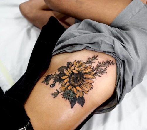 60 Tatuajes De Girasoles Y Su Significadomejores 2018
