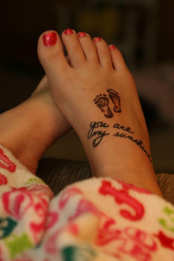 60 Tatuajes De Pies Y Huellas De Bebes