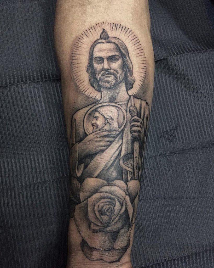 Como Hacer Un Diseño Para Tatuaje los mejores tatuajes de san judas tadeo y su significado